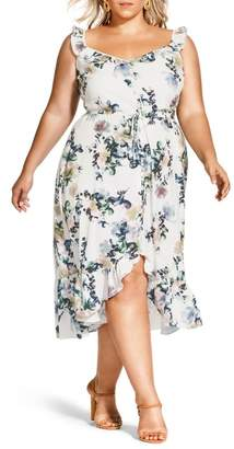 City Chic Glasshouse Printed Maxi Dress (Plus Size)