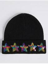 Marks and Spencer Kids' Star Sequin Beanie