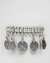 Pilgrim Coin Detail Chunky Bracelet