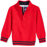 Tommy Hilfiger Baby Boys' Quarter-Zip Sweater