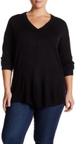 Sweet Romeo Ribbed V-Neck Sweater (Plus Size)
