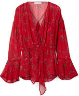 IRO Linette Printed Gauze Top - Red