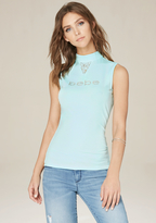 Bebe Logo Sleeveless Top