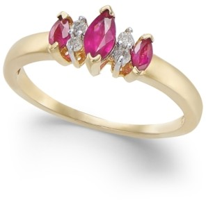 Macy's Ruby (5/8 ct. t.w.) & Diamond Accent Ring in 14k Gold