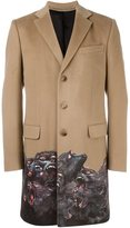Givenchy Monkey Brothers contrast trim coat