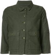 The Great three-quarters sleeve jacket - women - Cotton/Linen/Flax/Polyurethane/Tencel - 0