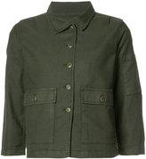 The Great three-quarters sleeve jacket - women - Cotton/Linen/Flax/Polyurethane/Tencel - 0