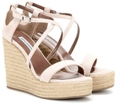 Tabitha Simmons Jenny 110 Suede Wedge Sandals