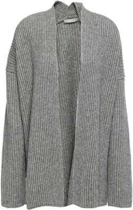 Vince Ribbed Wool And Yak-blend Cardigan