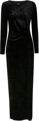 Wallis Black Velvet Wrap Maxi Dress