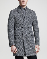 Jil Sander Hexagon-Print Double-Breasted Jacket