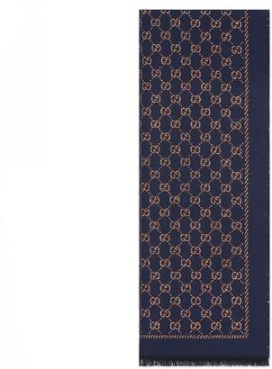 Gucci Metallic GG wool scarf