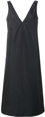 Plan C V-Neck A-Line Dress