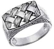 Lord & Taylor 925 Sterling Silver Flat Top Band Ring