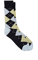 Barneys New York MEN'S ARGYLE MID-CALF SOCKS-NAVY