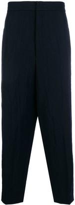 Jil Sander high waist drop crotch trousers