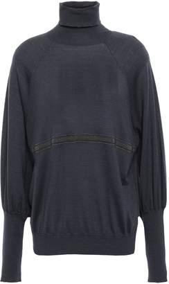 Brunello Cucinelli Bead-embellished Cashmere And Silk-blend Turtleneck Sweater