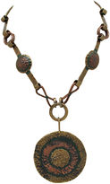 One Kings Lane Vintage Maya Mexico Brass Copper Necklace