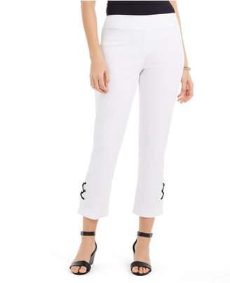 JM Collection Lace-Up Tummy-Control Ankle Pants