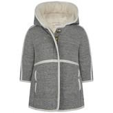 Chloé ChloeBaby Girls Grey Fleece & Faux Fur Coat