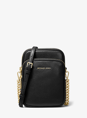 Michael Kors Jet Set Medium Pebbled Leather Crossbody Bag