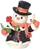 Precious Moments O Come, All Ye Faithful Caroling Snowman Christmas Figurine
