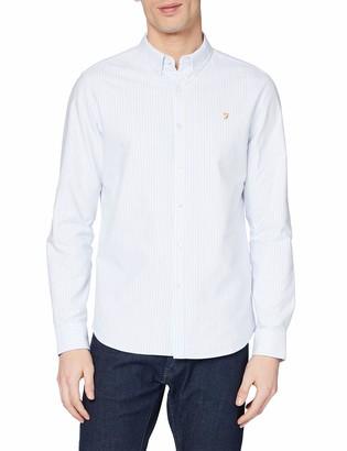 Farah Men's Brewer Stripe Casual Shirt