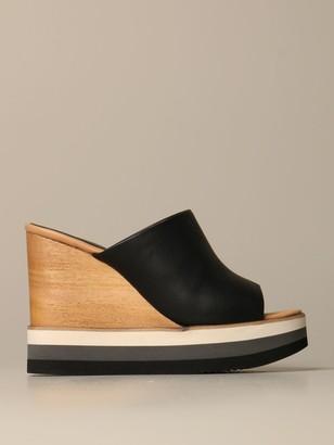 Paloma Barceló Paloma Barcelograve; Dalias Wedge Sandal In Leather