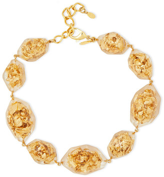 Oscar de la Renta Gold-tone Resin Necklace