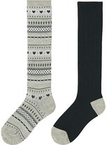 Uniqlo Girls Heattech High Socks 2p