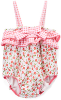 Beach Rays Cream & Red Floral Annie One-Piece - Infant
