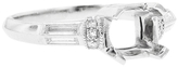 Lucie Campbell Diamond Ring Mount with Baguettes - Platinum