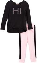 Juicy Couture Black 'Hi' Tunic & Sweatpants - Infant Toddler & Girls