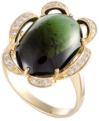 Heritage 18K Diamond & Tourmaline Ring