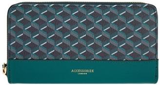 Accessorize Geo Zip Around Wallet