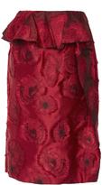 Oscar de la Renta Floral Appliqué Pencil Skirt