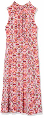 Donna Morgan Women's Printed Stretch Jersey Halter Fit and Flare Dress