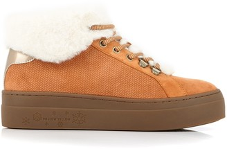 Mellow Yellow Everest Fur-Lined Leather Trainers