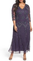Pisarro Nights Plus Size Women's Beaded A-Line Gown