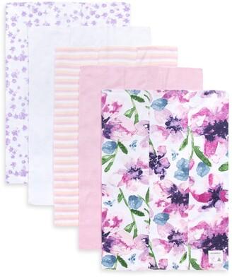 Burt's Bees Watercolor Daylily Organic Baby Burp Cloth 5 Pack