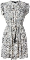Just Cavalli animal print pleated dress - women - Cotton/Polyester - 38