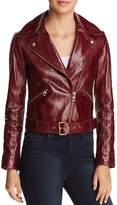 Tory Burch Bianca Leather Moto Jacket