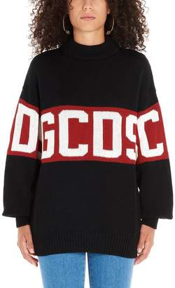 GCDS Logo Intarsia Crewneck Sweatshirt