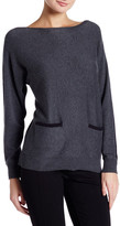 Vince Camuto Colorblock Boatneck Sweater