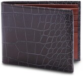 Thumbnail for your product : Bosca Croc Embossed Executive Leather Wallet