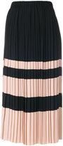 No.21 striped pleated skirt