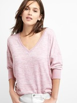 Gap Softspun crop V-neck sweatshirt