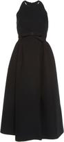 Dice Kayek Sleeveless Bow Halter Dress