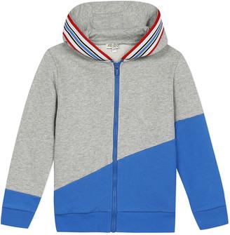 Kenzo Boy's Logo Tape Zip-Front Fleece Hoodie Jacket, Size 2-6