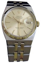 Rolex Oysterquartz Datejust 17013 18K Gold & Stainless Steel With Gold Dial Mens Watch
